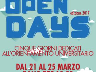 Locandina OPEN DAYS INformazione Universitaria 2017